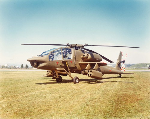 Mockup of the Hughes YAH-64, one of the competing candidates for selection as the Army's Advanced Attack Helicopter. From Vertiflite, May/June 1974.
