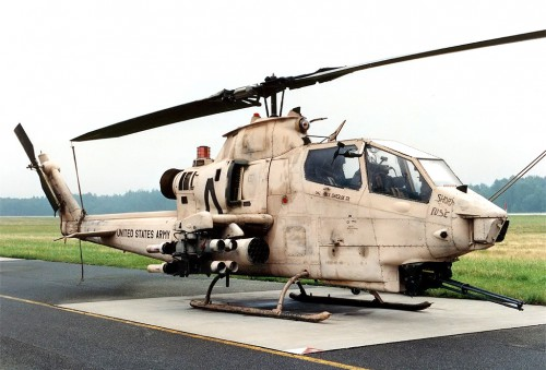 US Army AH-1F 'Short Fuse' just returned from Gulf War I in this extremely rare colour scheme. Photo courtesy of Gerhard Plomitzer, www.airliners.net. Source: http://www.airliners.net/photo/USA---Army/Bell-AH-1F-Cobra/0883321/