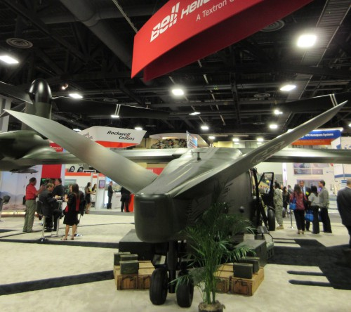 The latest V-280 mock-up shows the current configuration with a reduced-area V-tail  Vertiflite, January/February 2016 (page 34)
