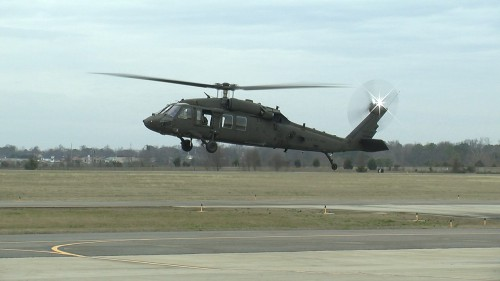 First flight of the UH-60V Black Hawk Engineering Development Model (EDM), developed by the US Army, Jan. 19, 2017 in Meridianville, Alabama. The Utility Helicopter Project Office took the engineering development model through a roughly hour-long flight that included take-off and landing, hovering, track and balance, and a brief local area flight. The UH-60V is being designed to update existing UH-60L analog architecture with a digital infrastructure and glass cockpit to address evolving interoperability and survivability requirements. From Vertiflite, March/April 2017 (page 29).