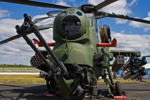 Based on the AgustaWestland A129 Mangusta, the T129 ATAK entered service in May 2014. Optimized for high hot conditions, the T129 features Turkish-developed avionics and weapons systems, as well as upgraded, transmission and rotor blades. Read more about Turkish Army helicopters in Vertiflite, March/April 2017. (Image sourced from AHS)