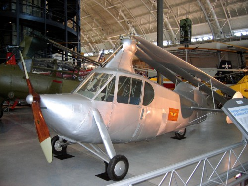 An attempt to design a road-worthy autogiro for personal transport.  Photo taken at Udvar Hazy Center, National Air and Space Museum, Chantilly VA, USA  Image donated to AHS International (Image provided under Creative CommonsAttribution-ShareAlike 4.0 International/CC BY-SA 4.0 license)