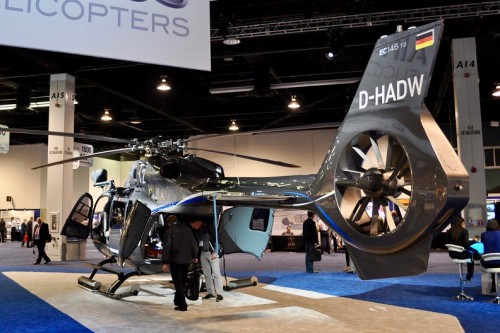 Photo taken at Heli-Expo 2014 held February 24-27 in Anaheim, California, USA.  Image by AHS International (image cropped from original and color enhanced) (Image provided under Creative CommonsAttribution-ShareAlike 4.0 International/CC BY-SA 4.0 license)