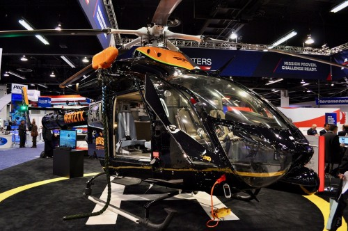 Photo taken at Heli-Expo 2014 held February 24-27 in Anaheim, California, USA.  Image by AHS International (image color enhanced) (image provided under Creative CommonsAttribution-ShareAlike 4.0 International/CC BY-SA 4.0 license)