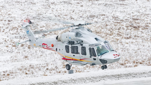 The first flight of the Avicopter AC352, powered by the WZ16 engine, took place 21 December 2016, in Harbin.