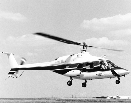 The Bell 222 was the first American built commercial light twin helicopter. The example shown carries registration N9988K.  From Vertiflite, March/April 1977