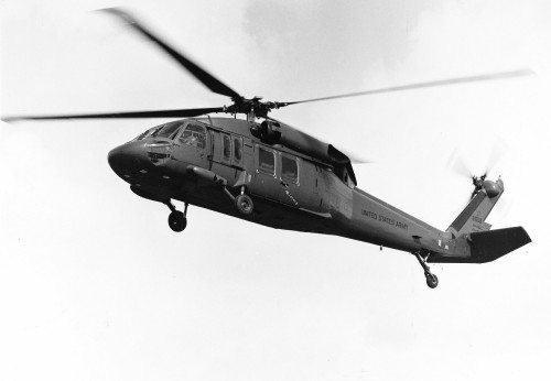 The Sikorsky YUH-60A (company designation S-70) was the company's entry in the Utility Tactical Transport Aircraft System (UTTAS) competition. It was selected as the winner on December 26, 1976 and would be produced as the H-60 Black Hawk. From Vertiflite, November/December 1976 (page 48).