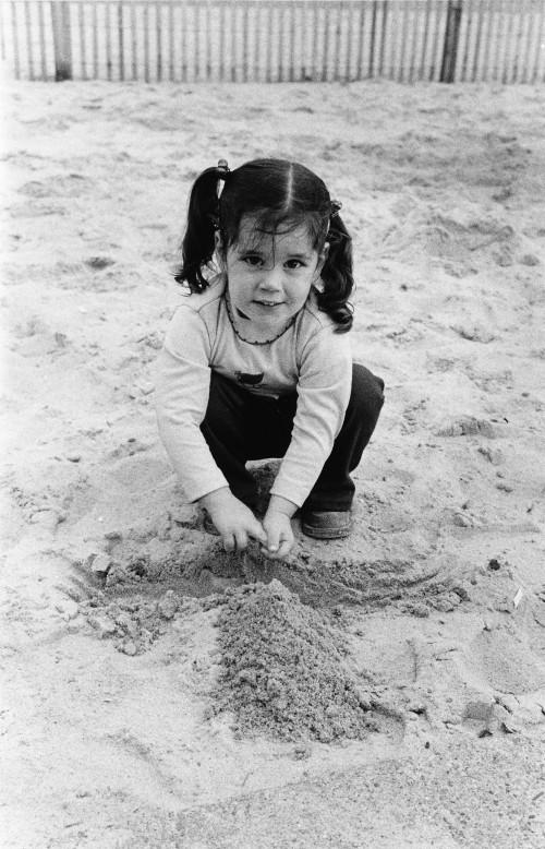 Sand is beautiful, but so is 2-year-old Andrea Kirichok,  daughter of Mr. and Mrs. Dmitri Kirichok.  From Vertiflite, November/December 1975.