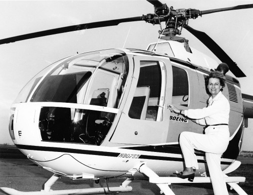 Doris Renninger was an advocate for all aviation and was an excellent helicopter pilot. She learned to fly a helicopter in only 2 days and accomplished many firsts such as being the first woman in New York to become a licensed helicopter pilot. She was a member of the Whirly Girls and and the Ninety-Nines.   From Vertiflite, March/April 1975