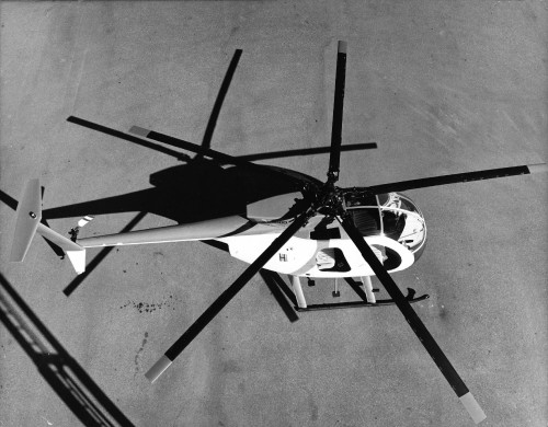 From Vertiflite, March/April 1975 The Hughes 500D has a payload of almost 3/4 ton internally; 1 ton externally. The 3/4 ton payload can be lifted at 5,000 feet (OGE) on a hot day. It can perform 100 ton-miles per hour, which is about 5 times the productivity of a 1/2 ton pickup truck.