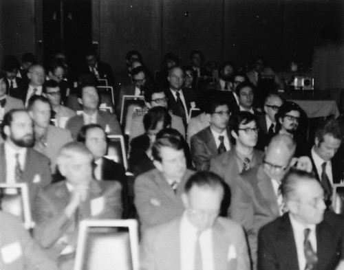 This is the audience at the AHS Northeast Regional Aerodynamic Efficiency Symposium. There were 200 total attendees.  From Vertiflite, March/April 1975