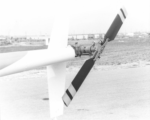 Picture of the tail rotor of the Robinson R22. Robinson announced in 1975 that this new model would sell for under $20,000! Has the poor man's helicopter finally arrived?  From Vertiflite, November/December 1975.