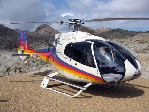 Papillon Tours Eurocopter EC130 B4 - Photo by David Jones (No modification to original image) (image provided under the terms of Creative Commons Attribution 2.0 Generic/CC BY 2.0 license) Source: https://flic.kr/p/7KzJrb