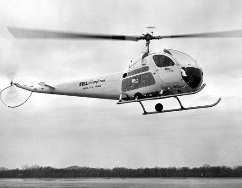 Bell 47H - Photo from Flick by SDASN Archives (no modification to original image) (no known copyright restrictions) Source: https://flic.kr/p/7Zz4QP