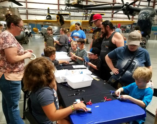 AHS STEM/Workplace Advocacy Rep and Arizona Chapter member Ron Alto presented the DIY rubber-band helicopter tutorial to over 350 children at the PIMA Air & Space Museum on July 22, 2017. The museum hosts recurring Night Wings events that provide hands-on STEM activities to children in the hangars.