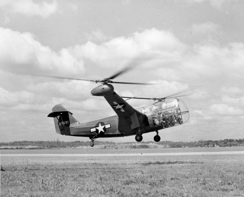 The second prototype of the Platt-LePage XR-1, tested in December 1943 and presented with the first prototype at the First Annual Dinner of the American Helicopter Society, Inc. in 1944 by W. Laurence LePage and Haviland H. Platt.