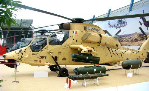Eurocopter Tiger HAD F-ZWPB of Aviation Légère de l'Armée de Terre (French Army Light Aviation). Photo September 1, 2014 by Michal Derela.