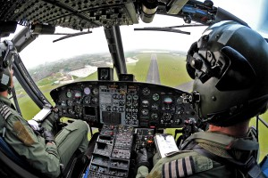 Griffin-Helicopter-Practices-Approach-to-RAF-Shawbury
