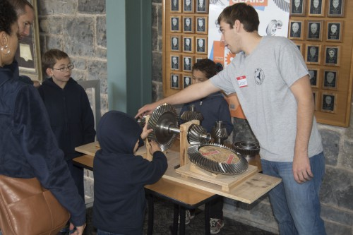 Attendees could interact with the large gears and learn how power can be distributed from an engine to rotors.