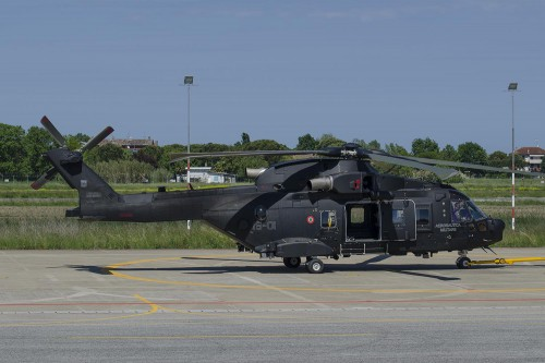 Italian Air Force HH-101A Caesar at Cervia Air Base. Photo by Paolo Rollino, May 19, 2017. Copyright: CC BY-SA