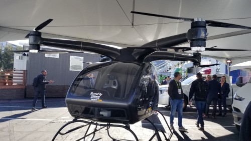 Workhorse SureFly prototype #1 on display at the CES2018 Exhibition in Las Vegas, NV, Jan. 11, 2018. AHS photo.