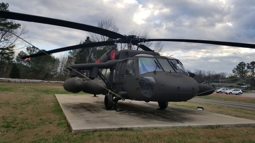 UH-60A Black Hawk (85-24393) outside the US Army Program Executive Office (PEO) for Aviation. AHS photo taken at Redstone Arsenal, Huntsville, Alabama, Feb. 20, 2018.