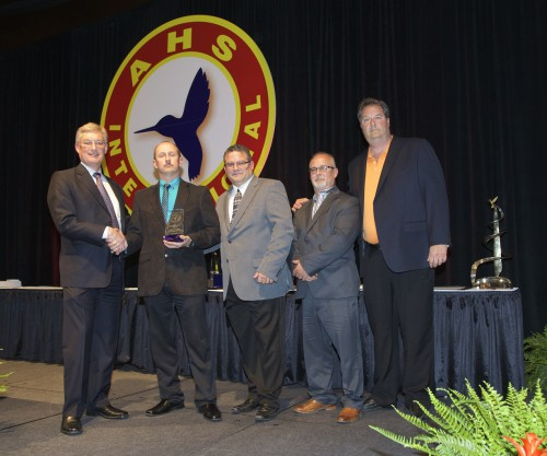 Winner of AHS Supplier Excellence Award at Forum 71 Awards, 2015- KUKA Systems Corporation Aerospace Group,  accepting the award are Jeff Camphous, Mike Jurichny, Robert Soulliere and Craig Tunis.