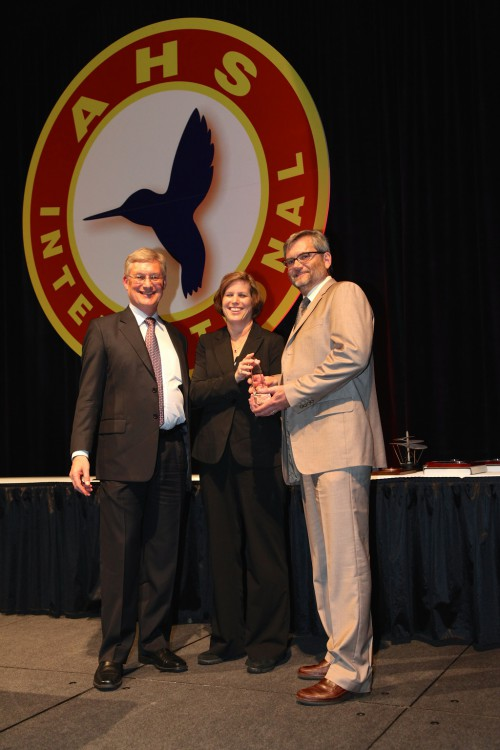 Harry T. Jensen Award at Forum 71 Awards, 2015- accepted by Stacey Kelly, Bell Helicopter and Douglass Rhoads, The Boeing Company for winner team: The V-22 Structural Appraisal of Fatique Effects (SAFE) Team, a  joint US Naval Air Systems Command (NAVAIR)/Bell Boeing.
