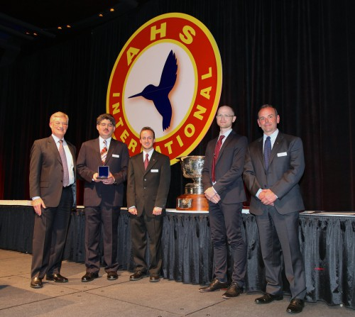 Howard Hughes Award at Forum 71 Awards, 2015 winner- Sikorsky MATRIX Team- represented by Dr. Igor Cherepinsky, Joshua Leland, John D.Martin, Jr., and Mark Ward.