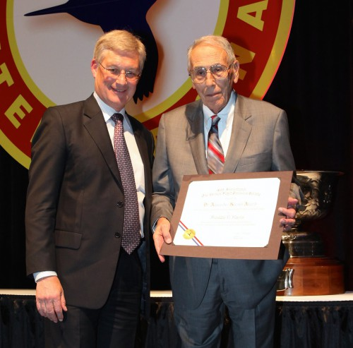 Winner of Dr.Alexander Klemin Award at Forum 71 Awards, 2015 - Franklin D. Harris (right) with Ed Birtwell.