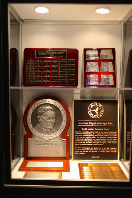 Display of prominent award plaques of VFS at Forum 71, 2015.