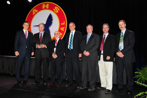 Winner for Harry T. Jensen Award at Forum 70 Awards, 2014 - S-92A Main Rotor Hub Life Extension Team, Sikorsky Aircraft Corporation - including James Cycon, Phil Hensley, Eric Hansen, Dr. James Rozak, Jurgen Roos and Dave Schmaling.