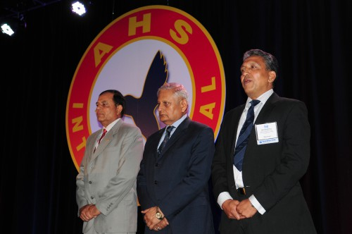 There were two winning teams for Captain William J. Kossler, USCG award at Forum 70 Awards, 2014- the first of them:  the Uttarakhand Disaster Relief Helicopter Operators in the Indian Himalayas. The award was accepted by the Honorable High Commissioner Admiral Nirmal Verma, Wing Commander Unni Pillai, President of Rotary Wing Society of India Southern Region and Col Sudhir Mallik of Span Air India on behalf of the civil and military operators.