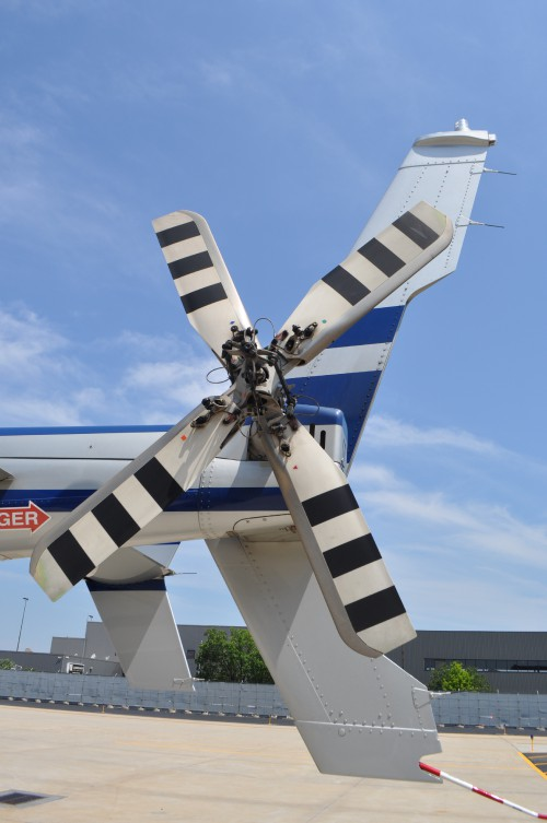 Bell 429 tail rotor, June 8, 2015, Manassas Airport, Virginia. AHS photo by Mike Hirschberg. CC BY-SA