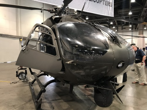 The Nevada Army National Guard brought its Airbus Helicopters UH-72A Lakota (72265) for display at the Las Vegas Convention Center in Las Vegas, Nevada, on Tuesday Feb. 27, 2018, at the HAI Heli-Expo 2018. AHS photo by Ian V. Frain. CC-BY-SA