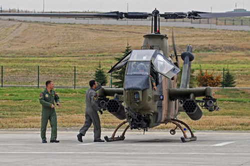 BELL AH-1P of Turkish Army Aviation at Ankara-Guvercinlik AAB (TR) on 2015.09.30 - delivered in 1993 from US Army surplus the type was later upgraded with help of Israelian technicians with the introduction of the nose gun and other navigation and self protection systems