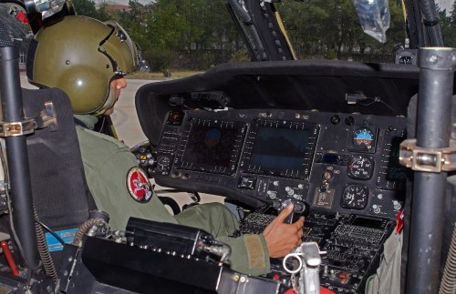 SIKORSKY S-70A-28D of Turkish Army Aviation at Ankara-Guvercinlik AAB (TR) on 2015.09.30 - Close-up of the digital cockpit