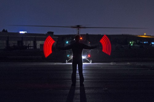 BELL UH-1H of Turkish Army Aviation at Ankara-GUvercinlik on 2015.09.30 ready to take off for a night training mission