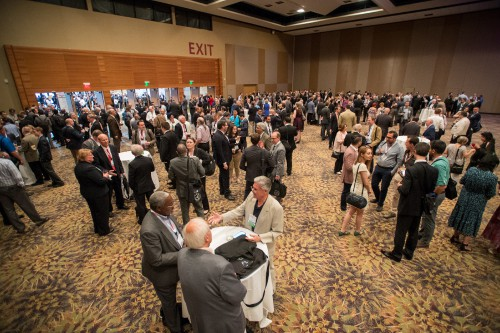 Attendees at the VFF Reception, prior to the 74th Annual Grand Awards Banquet at Forum 74, May 16, 2018, Phoenix, Arizona. VFS photo by Kenneth Krehbiel, May 16, 2018. CC BY-SA 3.0