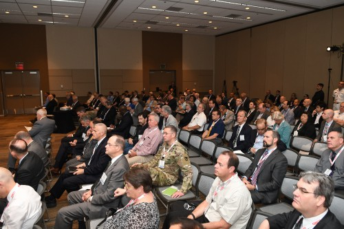 The audience at the Forum 74 Army Aviation Program Managers Special Session on Tuesday morning, May 15, 2018. VFS Photo by Kenneth I. Swartz. CC BY-SA 3.0