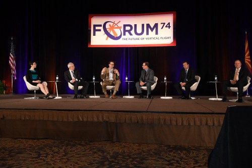 """The Annual Forum's CEO panel, """"Straight Talk from the Top"""". The Forum 74 Opening General Session took place on Tuesday afternoon, May 15, 2018. VFS photo by Kenneth Swartz. CC BY-SA 3.0"""