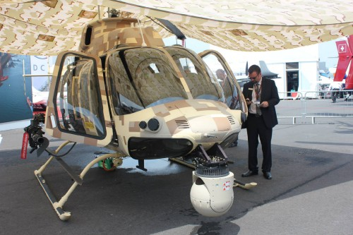 A front view of Air Zermatt's Bell 429. Photo taken by Vertiflite author and photographer Ian V. Frain.