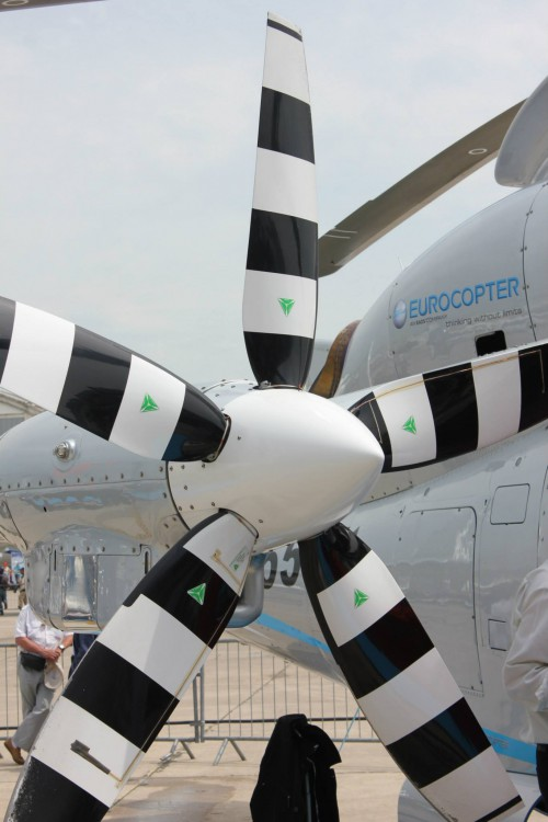 The propeller of the Eurocopter X³. Photo taken by Vertiflite author and photographer Ian V. Frain.