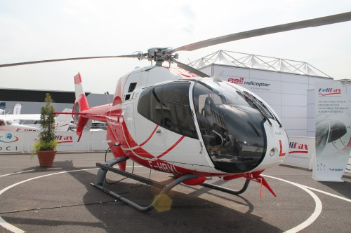 A right side view of HeliDax's Eurocopter EC120B. Photo taken by Vertiflite author and photographer Ian V. Frain.