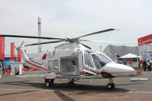 A photo of the AgustaWestland AW169. Photo taken by Vertiflite author and photographer Ian V. Frain.