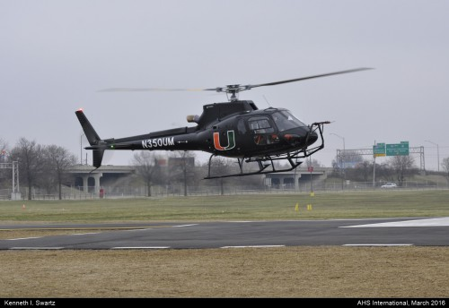 A photo of the Airbus AS350B3 at Heli-Expo 2016. Photo taken by Kenneth I. Swartz.