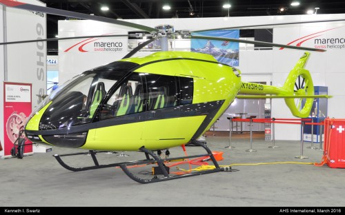 A photo of the Marenco SKYe SHO9 at Heli-Expo 2016. Photo taken by Kenneth I. Swartz.