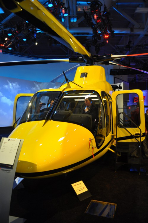 A front view of the Bell 525. VFS Photo.