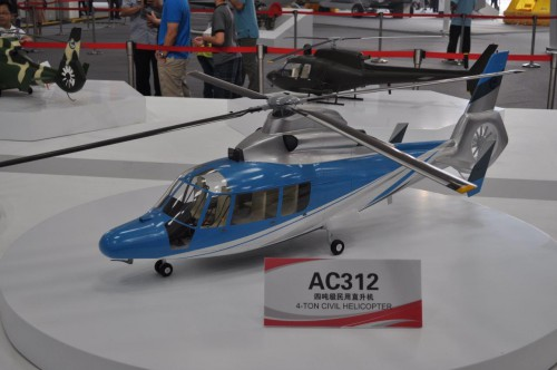 Avicopter model of AC312. VFS Photo.