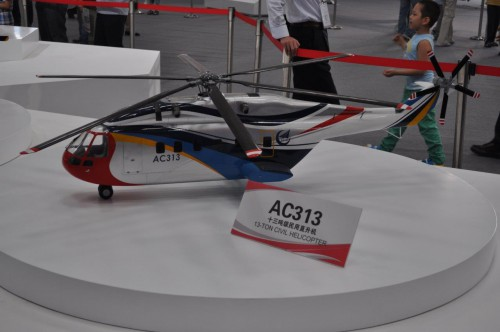 Avicopter model of AC313. VFS Photo.